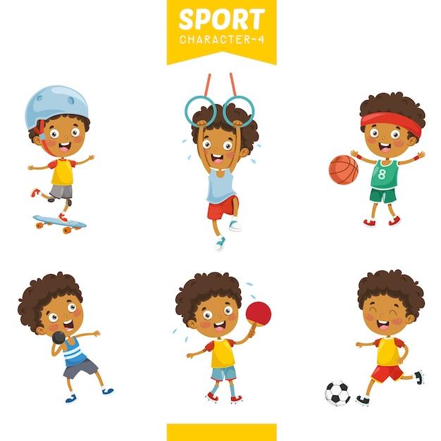 Ilustracja Wektorowa O Charakterze Sportowym Premium Wektorów