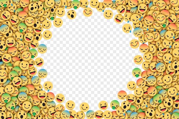 Ilustracja wektorowa płaski facebook emoji Premium Wektorów