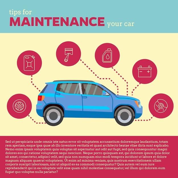 Ilustracja Wektorowa Porady Samochodów Premium Wektorów