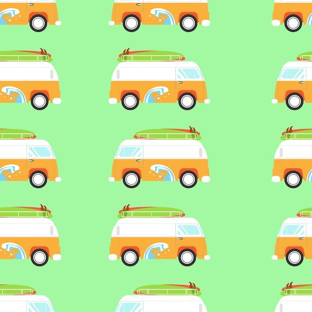 Ilustracja Wektorowa Retro Van Premium Wektorów