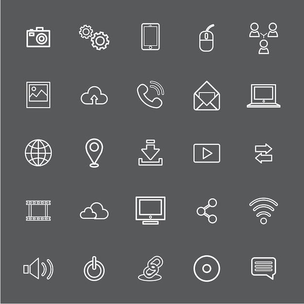 Ilustracja Wektorowa Ui Technologii Ikona Koncepcja Darmowych Wektorów