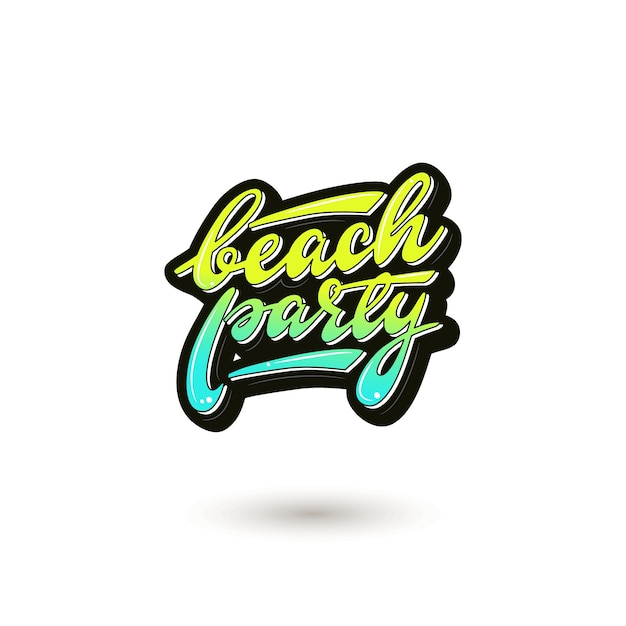 Ilustracja Wektorowa Z Napisem Beach Party. Premium Wektorów