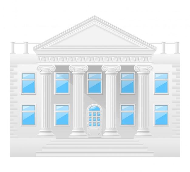 Ilustracja wektorowa zabytkowego budynku Premium Wektorów