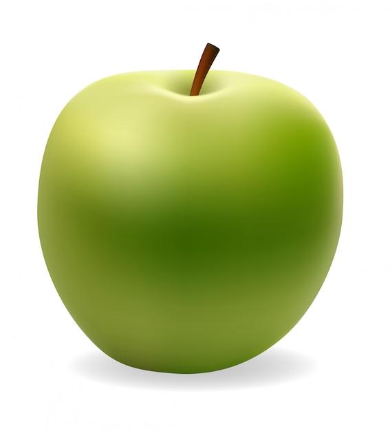 Ilustracja wektorowa zielony apple Premium Wektorów