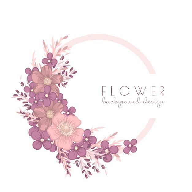 Ilustracja Wieniec Kwiatów Premium Wektorów