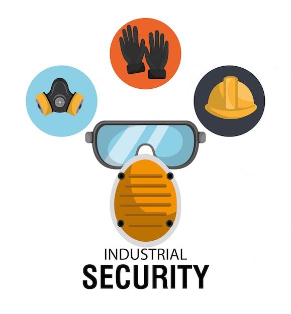 Ilustracja wyposażenia bezpieczeństwa Premium Wektorów