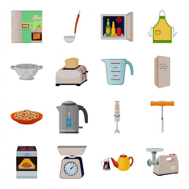 Ilustracja Wyposażenia Kuchni Premium Wektorów