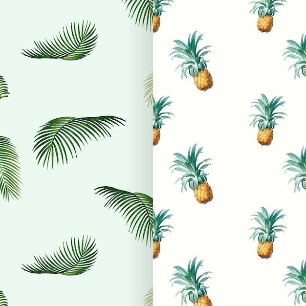 Ilustracja wzór lato tropikalne Darmowych Wektorów
