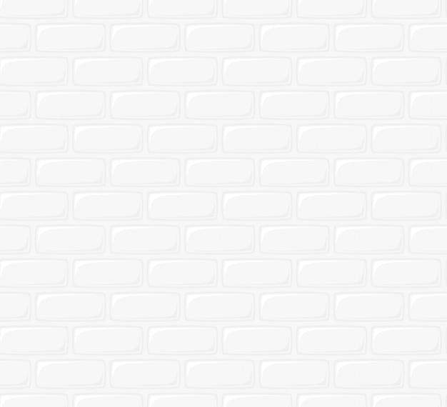 Ilustracja Z Białym Murem. Bez Szwu Tekstury Tła. Płaski Projekt W Stylu Kreskówki Wzór ściany Z Cegły Do Ciągłej Replikacji Premium Wektorów