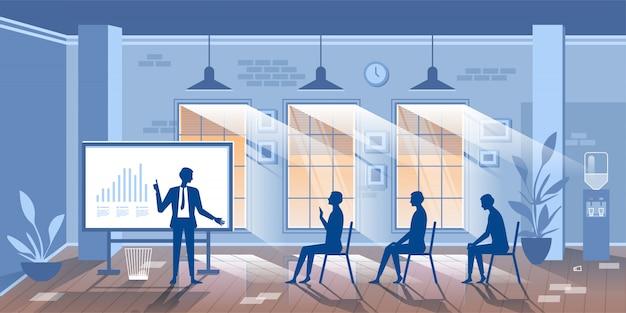Ilustracja Z Postaciami Szkolenia Biznesowe Postaci Premium Wektorów