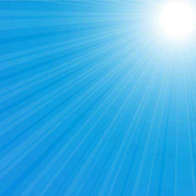 Ilustracja Z Powrotem Sunburst Premium Wektorów