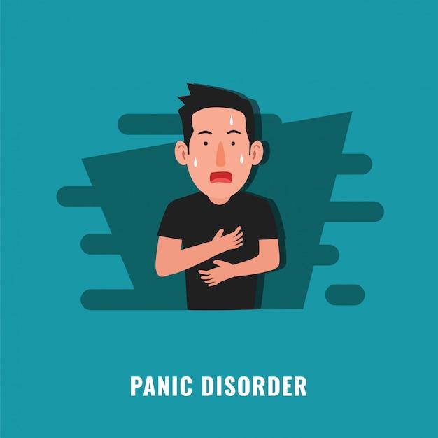 Ilustracja zaburzenia paniki Premium Wektorów