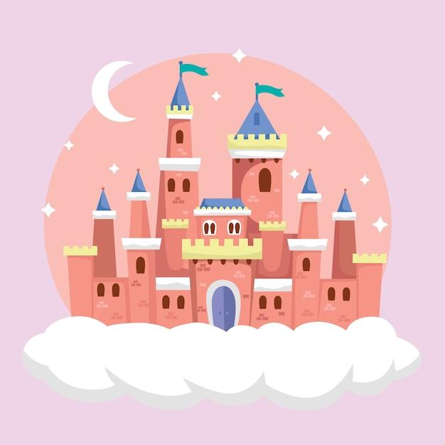 Ilustracja Zamek Bajki Darmowych Wektorów