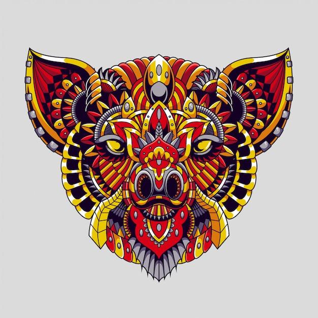 Ilustracja Zentangle Pig Mandala I Projekt Tshirt Premium Wektorów Premium Wektorów