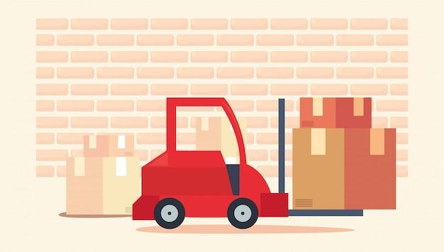 Ilustracja związana z szybką dostawą Premium Wektorów