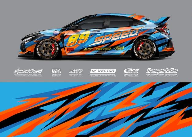 Ilustracje Barw Samochodów Wyścigowych Premium Wektorów