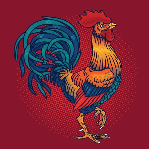 Ilustracji Wektorowych Rooster Darmowych Wektorów