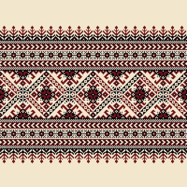 Ilustracji Wektorowych Ukraiński Ludowy Wzór Bezszwowych Ozdoba. Ornament Etniczny. Element Granicy. Tradycyjny Ukraiński, Białoruski Wzór Haftu Ludowego - Vyshyvanka Darmowych Wektorów