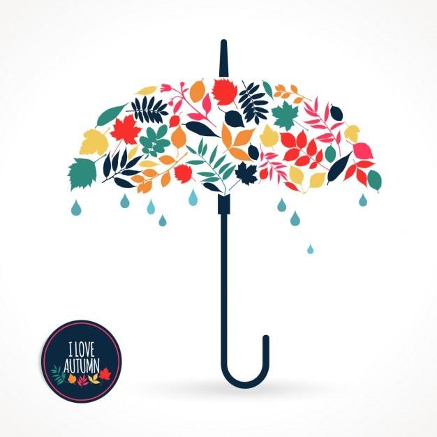 ilustracji wektorowych z parasolem Darmowych Wektorów