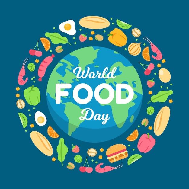 Ilustrowane Obchody światowego Dnia żywności Premium Wektorów
