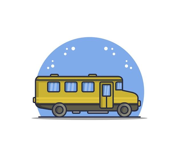 Ilustrowany Autobus Szkolny Darmowych Wektorów