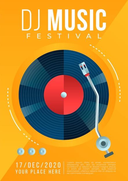 Ilustrowany Koncepcja Plakat Muzyczny Darmowych Wektorów