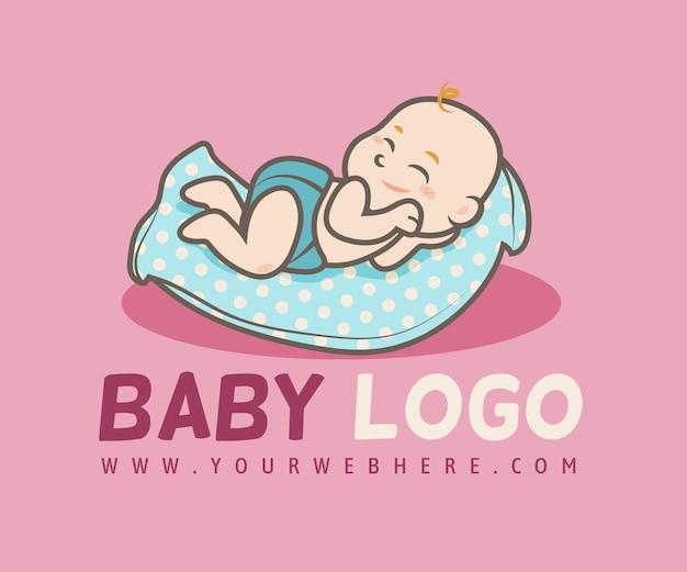 Ilustrowany Szczegółowy Szablon Logo Dziecka Premium Wektorów