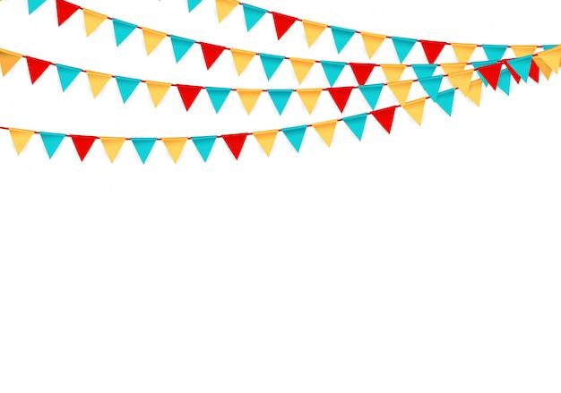 Impreza Z Flagami Premium Wektorów