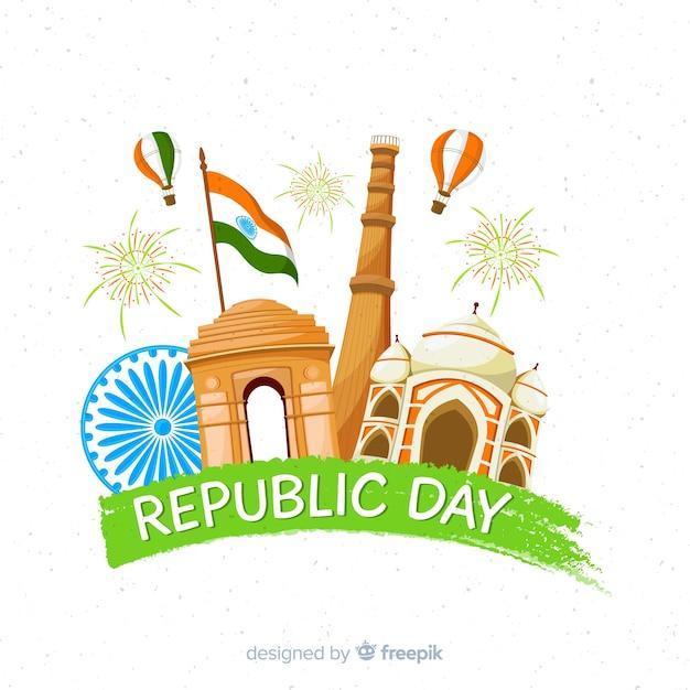 Indiański republika dnia tło Darmowych Wektorów