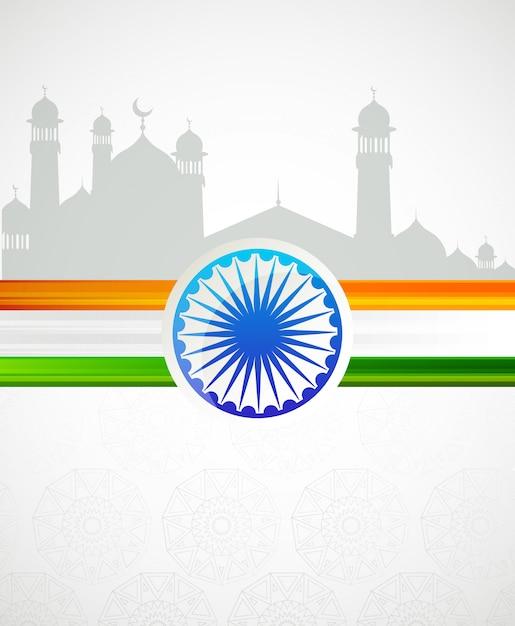Indie patriotyczne emblematy, dzień niepodległości Premium Wektorów