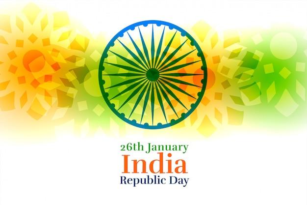 Indie Szczęśliwy Dzień Republiki Kreatywne Tło Darmowych Wektorów