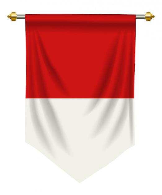 Indonezja lub proporzec z monako Premium Wektorów