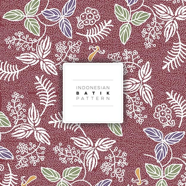 Indonezyjski Salak Batik Wzór Wolna Wektor Premium Wektorów