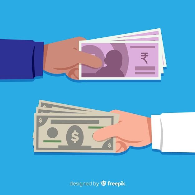 Indyjska Wymiana Waluty Rupii Darmowych Wektorów