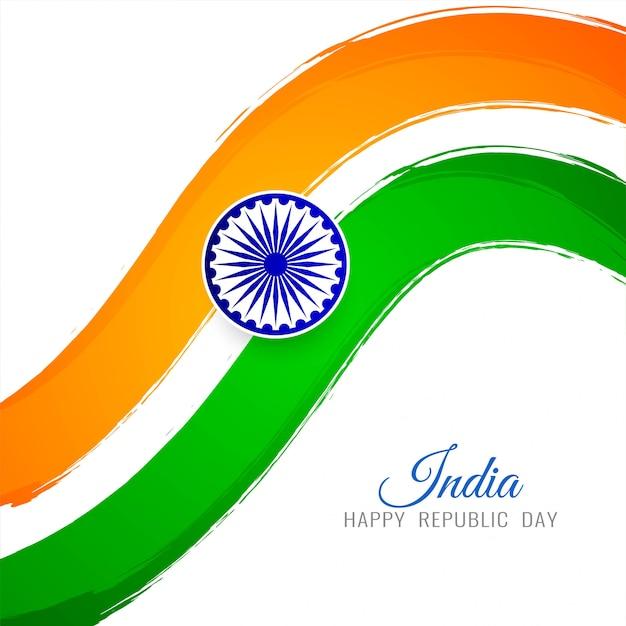 Indyjski flaga motyw eleganckie tło dekoracyjne Premium Wektorów
