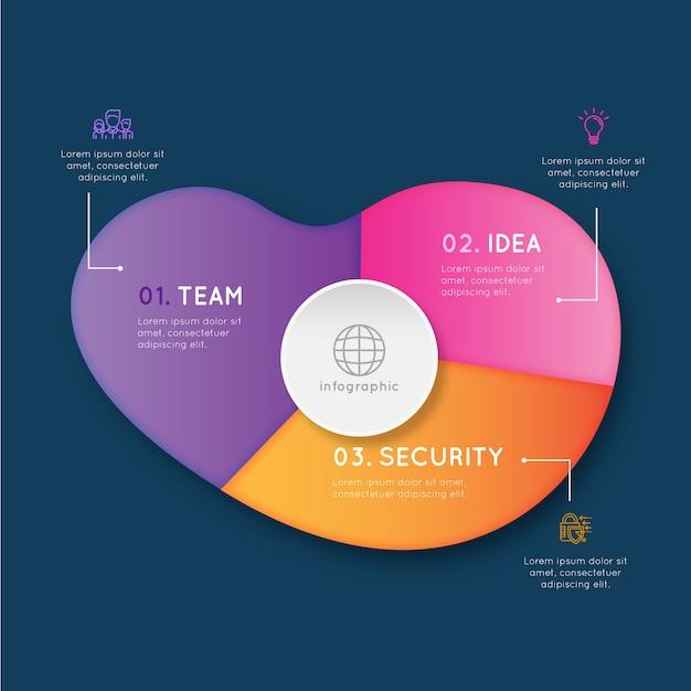 Infografika Abstrakcyjny Kształt Gradientu Darmowych Wektorów