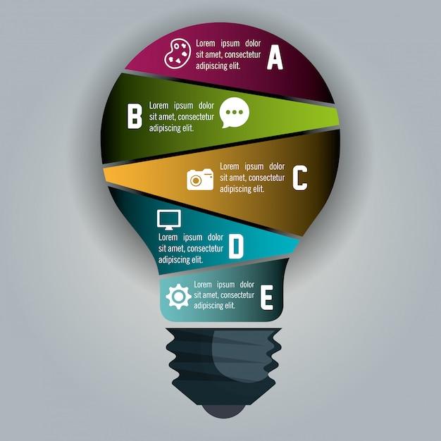 Infografika biznesowa Darmowych Wektorów