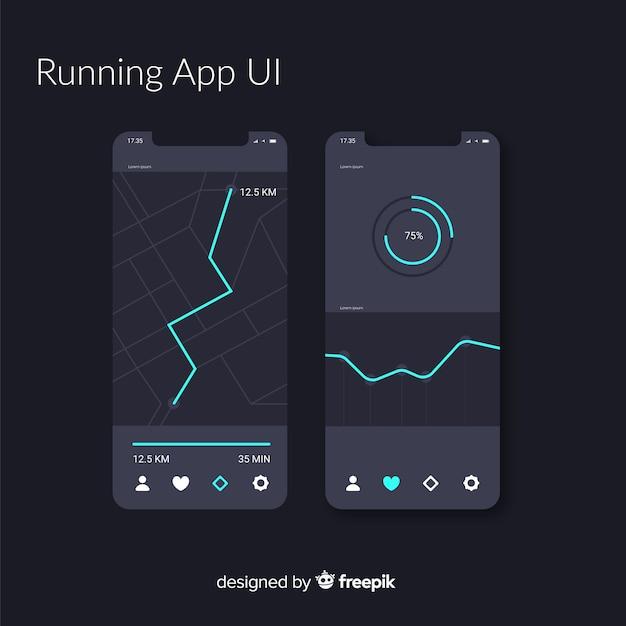Infografika dla aplikacji mobilnej z systemem Darmowych Wektorów