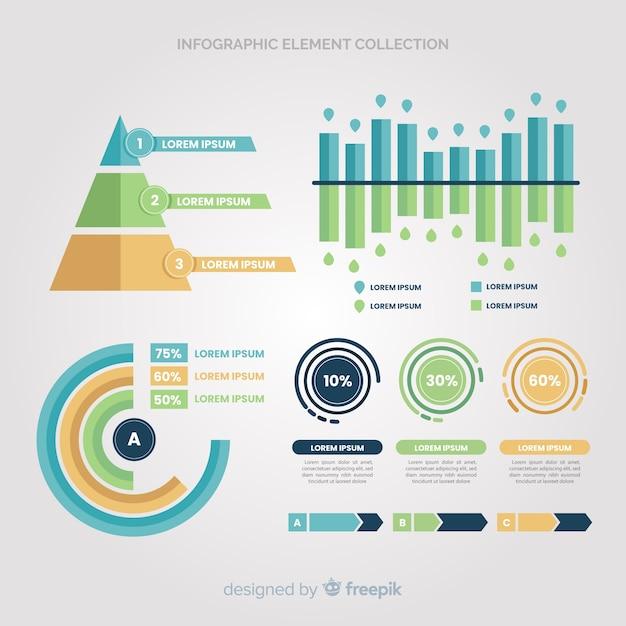 Infografika Element Kolekcji Darmowych Wektorów