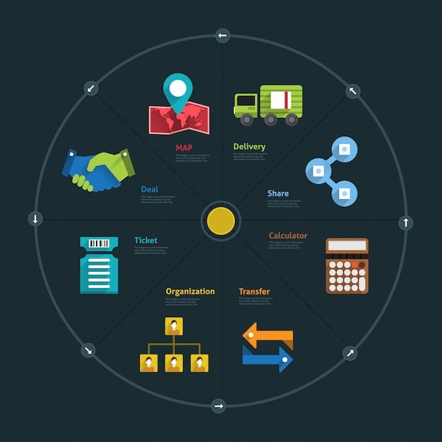 Infografika I Biznes Element Ikon łączą Styl życia Dla Układu Lub Wykresu Premium Wektorów