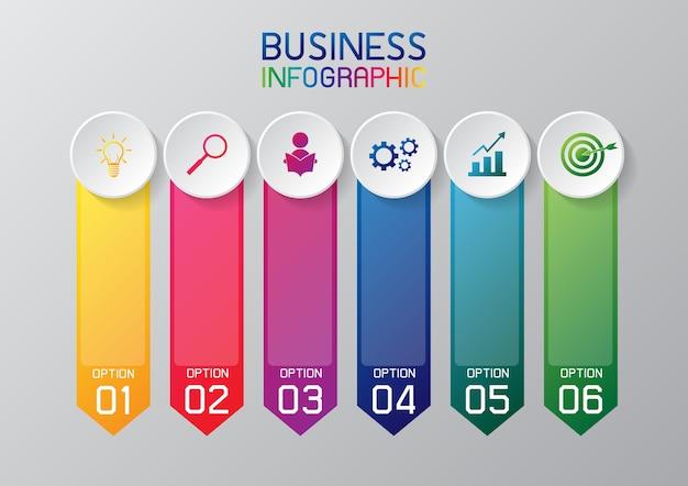 Infografika lub element graficzny informacji dla biznesu Premium Wektorów