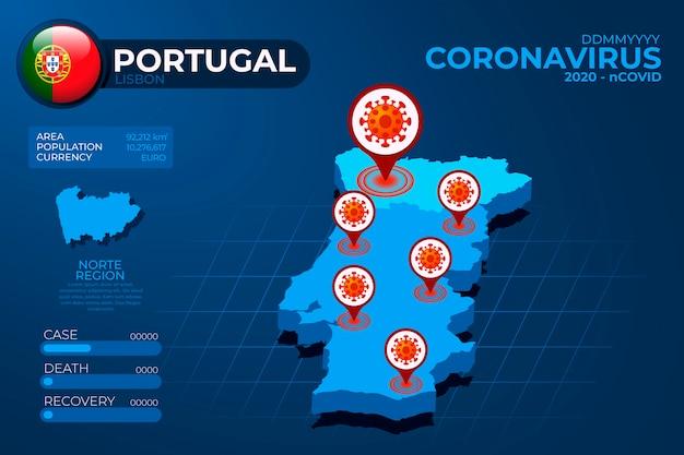 Infografika Mapa Kraju Koronawirusa Darmowych Wektorów