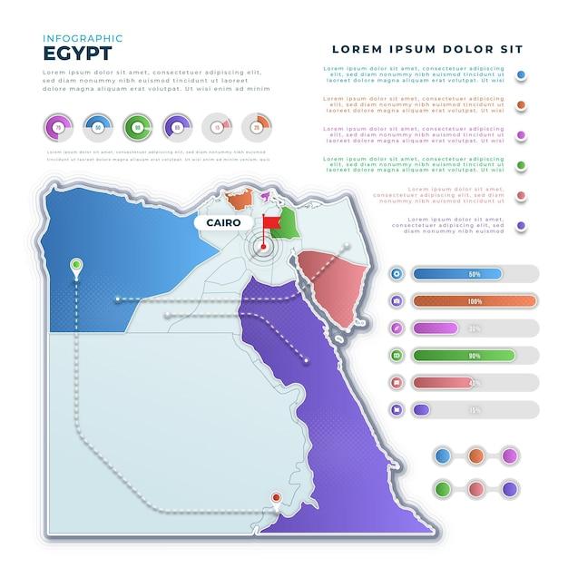 Infografika Mapy Egiptu Gradientu Darmowych Wektorów
