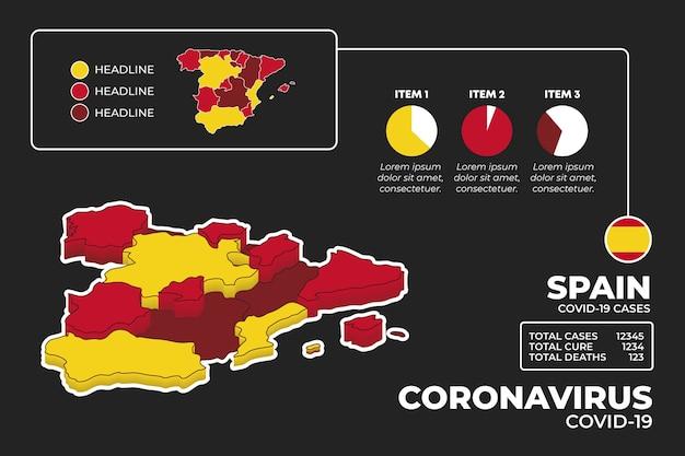 Infografika Mapy Koronawirusa Darmowych Wektorów
