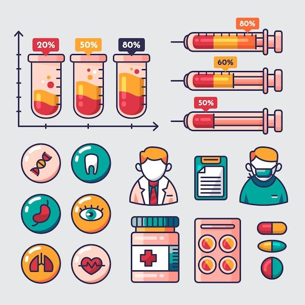 Infografika medyczna z informacjami Darmowych Wektorów
