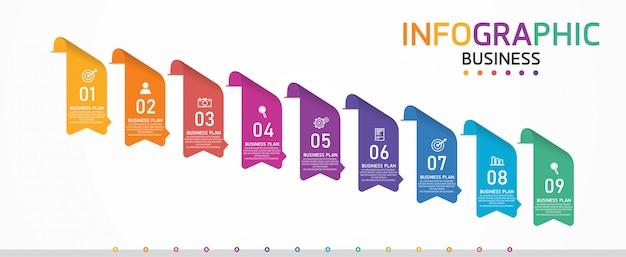 Infografika Może Służyć Do Przetwarzania, Prezentacji, Układu, Banera, Wykresu Informacyjnego. Premium Wektorów