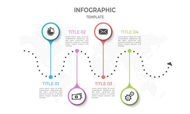 Infografika osi czasu Premium Wektorów