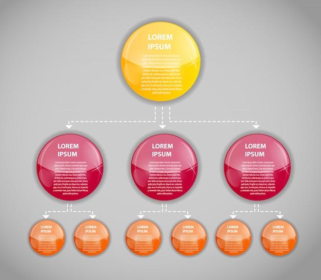 Infografika Szablon Biznesowy Z Trzema Krokami Premium Wektorów