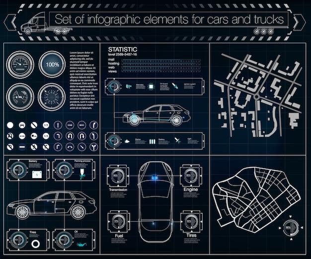 Infografika Tarczy, Spinner Elementów Hud. Futurystyczny Interfejs Użytkownika. Premium Wektorów