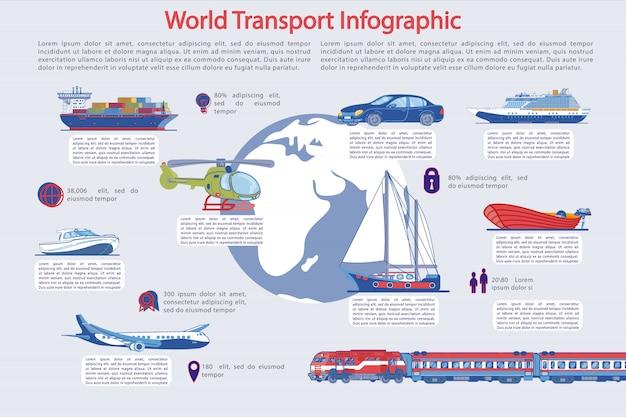 Infografika Transportu I Turystyki Premium Wektorów